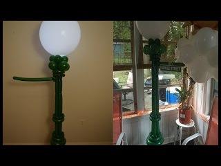 Sesame Street Balloon lamp post Balloon Decoration tutorial How to make balloon column with lights