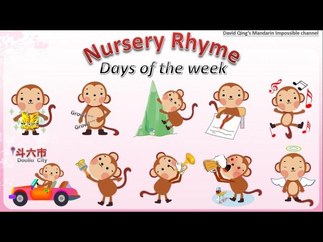 Learn Mandarin Chinese with Monkey Nursery Rhyme