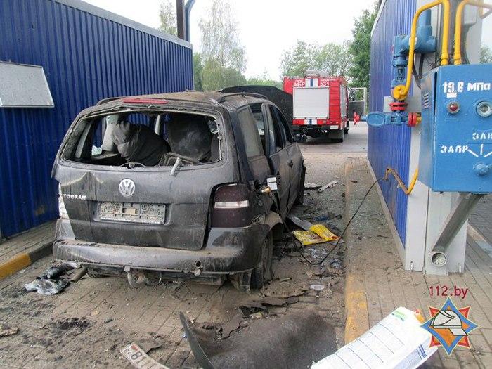 На газовой заправке в Барановичах взорвался автомобиль