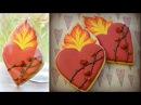 Flaming Heart Cookies