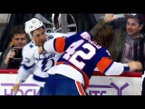 Scott Mayfield Goes After J.T. Brown For Hit on John Tavares. NHL Highlights.