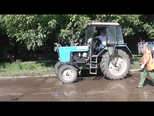 Ямочный ремонт грязью и кирпичами