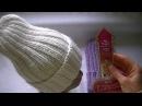 Вязание удлиненной шапки резинкой 22. Шапка Тыковка