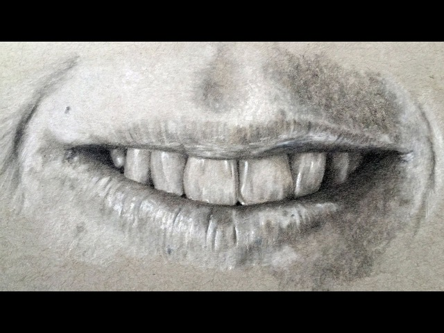 Time Lapse Drawing - Lips, Mouth, and Teeth