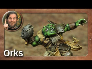 Bemalung: Blood Bowl Orks / How to paint Orcs (Tabletop-Miniaturen, TWS)