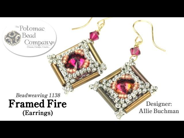 Framed Fire Earrings Tutorial