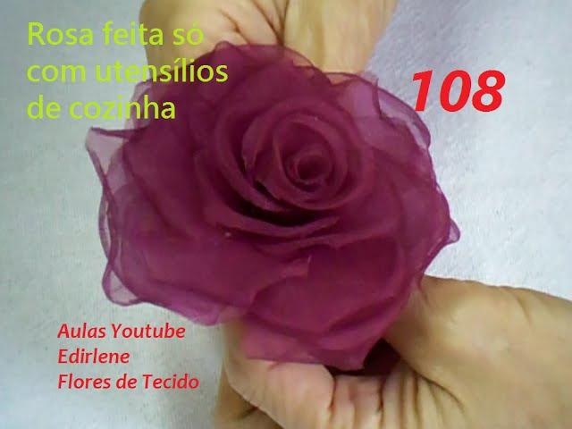 AULA 108: ROSA FEITA COM UTENSÍLIOS DE COZINHA (atendendo pedidos)