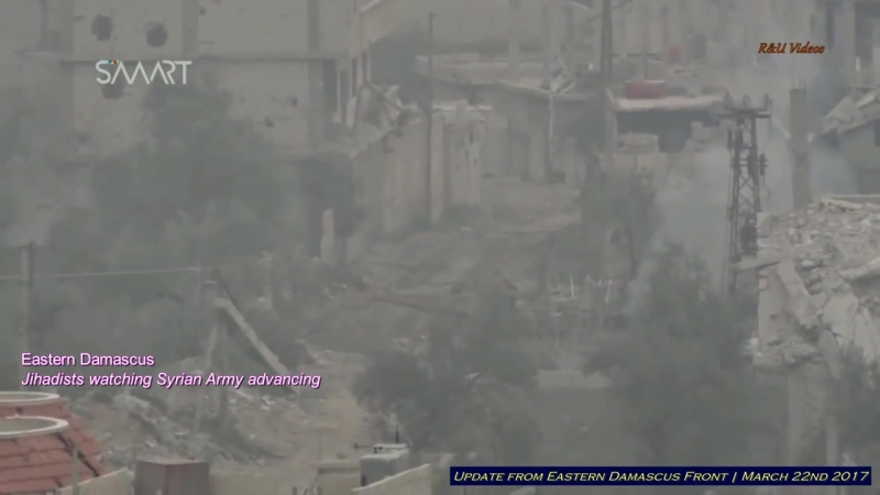 Syrian Army fight back in al-Qaboun _ March 22nd 2017 _ Eastern Damascus
