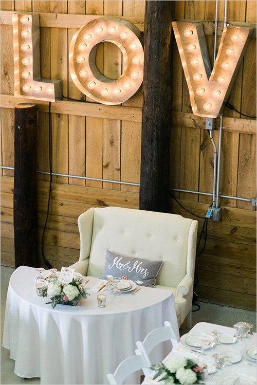 Украшение стола молодоженов на свадьбе (6 фото)