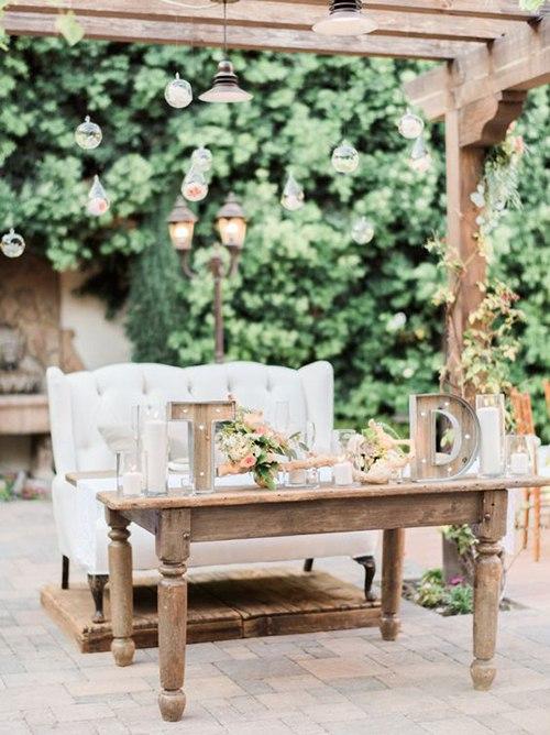 AhKisC8JF7g - Украшение стола молодоженов на свадьбе (6 фото)
