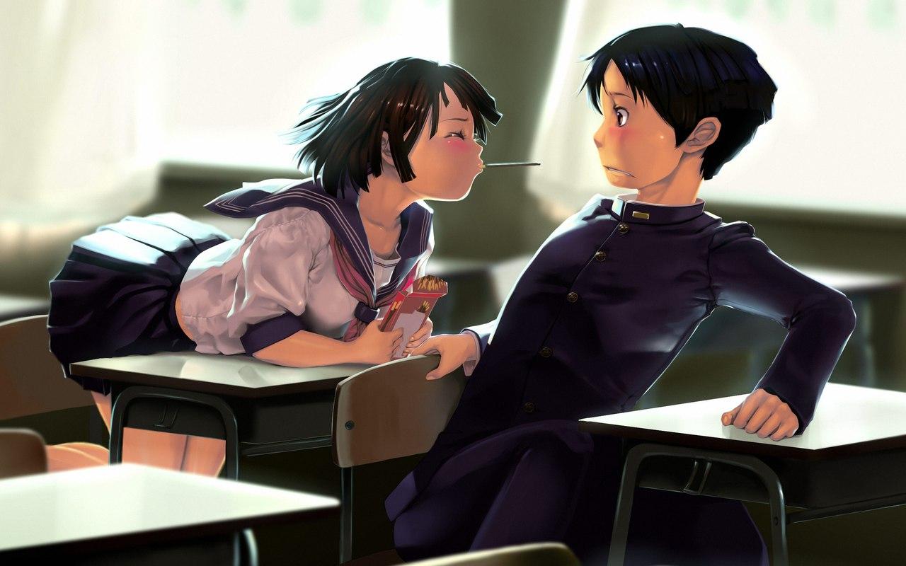 аниме секс класс урок занятие школа