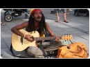 AMAZING STREET PERFORMER SINGS - No Woman No Cry