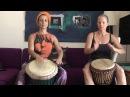 Djembe Drumming Daniella Heleniq