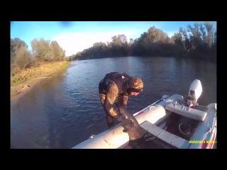 Подводная охота Сом 32 и 40 кг р  Медведица
