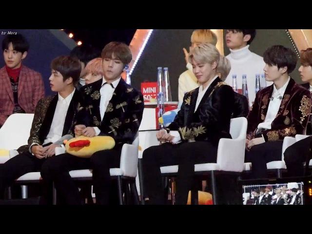 170114 방탄소년단 (BTS) Got7 - HardCarry 무대 리액션 [지민,뷔,슈가,랩몬,정국,진,제이홉] 직캠 Fancam (5