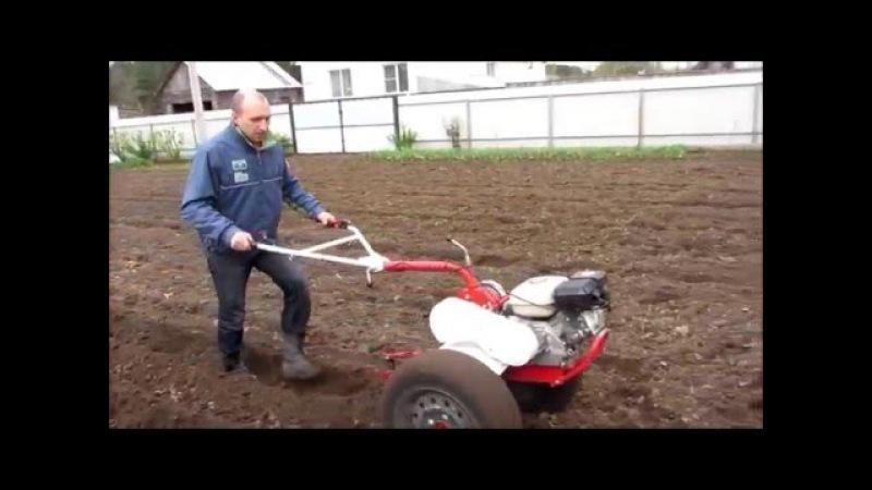 Культивация и нарезка борозд под посадку картошки,мотоблоком weima 1050