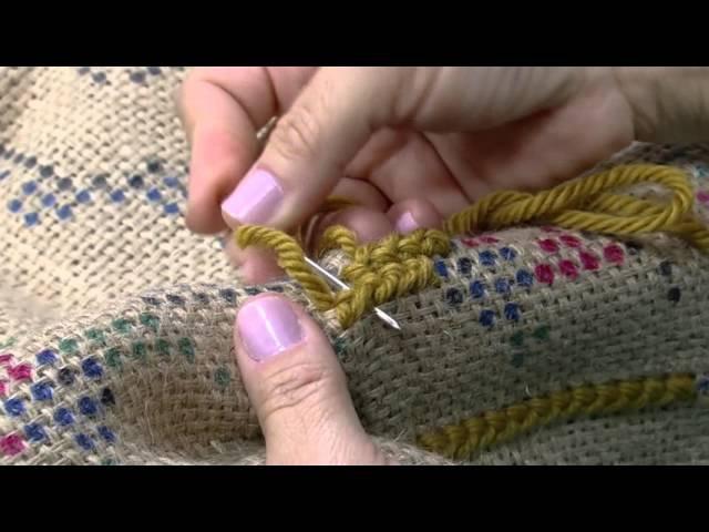 Mulher.com - 05/10/2015 - Tapete com ponto arraiolo - Ana Maria Souza PT2