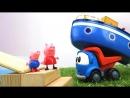 Грузовичок Лева и СВИНКА ПЕППА новая серия!  Peppa Pig и #МашинкаЛева мастерят кораблик  !