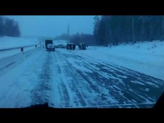 Авария на северном объезде в сторону Новосибирска