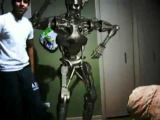 Indian Guy Dancing with the Terminator