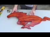 How to make a Mustang Pony shaped wooden wall art out of plywood