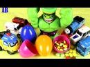 Халк бьёт большой Киндер с конфетами для машинки Тайо, Поли и Поезд Томас. Видео ...