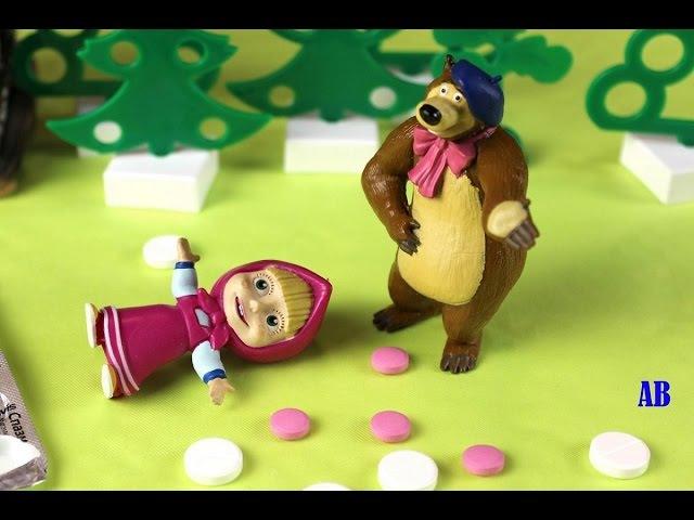 Маша из мультика Маша и Медведь ОТРАВИЛАСЬ ЛЕКАРСТВАМИ. Мишка в ПАНИКЕ. Для дете ...