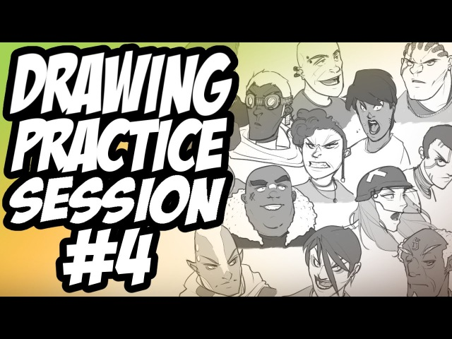 Drawing Practice Session 4 - Faces / Overwatch Talk