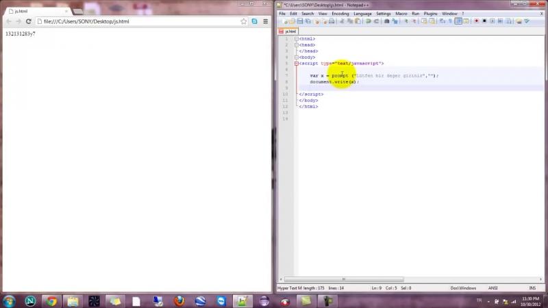 Yakın Kampüs - Javascript Ders 21 - Javascriptte Arrayde Prompt Komutu
