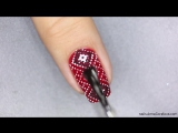Winter red sweater manicure - Дизайн ногтей от Anna Gorelova с узором зимний свитер