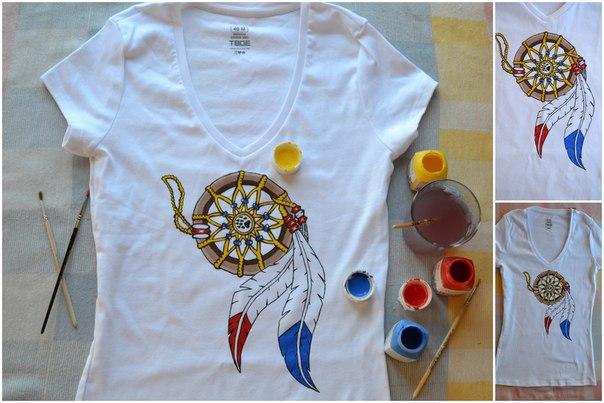 Рисунки на футболках красками - Рисунки на футболках акриловыми красками своими руками