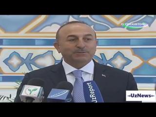 Президент Узбекистана встретился с главой МИД Турции