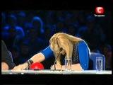 Маткор на минуте славы (Украина мае талант 3 - Елена Яценко (Днепропетровск))