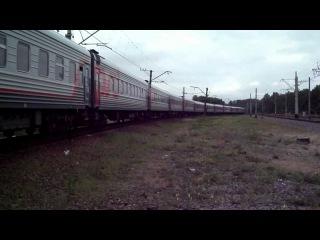 ЧС2т-945 с поездом СПб-Новороссийск «Черноморец»