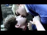 The Cut - Alex (Connor Scarlett) kisses Stephen (Matthew Kane)
