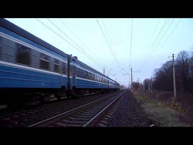 Электровоз ЧС6-017 с поездом №034X «Эстония»