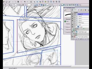 Lining a doujinshi with Manga Studio