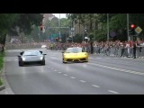 Supercars on the street at GTPolonia lovely sounds burnouts drifts PART I