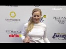 Wendi McLendon Covey Lakers Casino Night After Lakers Bull Game March 10 2013