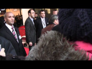 Antonio Banderas Salma Hayek in Paris on red carpet for Puss in boots movie