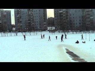 Уличный футбол Teamwork - ПСК (ворота ПСК справа). Качество видео меняется на ролике.