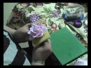 Мастер-класс.Роза из мастики. Часть 2.