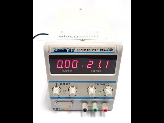 Лабораторный блок питания RXN-305D как зарядное устройство ! Видео от Electronoff