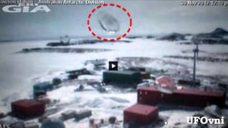 UFO photographed mysterious disc shaped object on the basis Mawson, Antarctica, Nov 30, 2012
