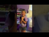 Adorable girl meets kitten for the first time and cries tears of pure joy!! - Marley Ella