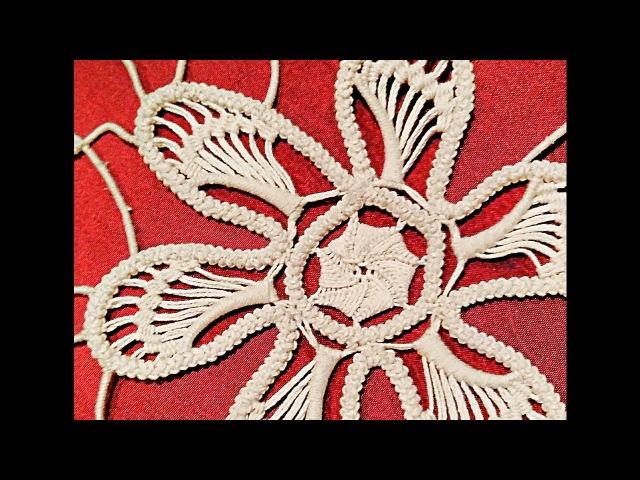 Laseta Punto riempimento petali(6) Romanian point lace