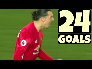 Zlatan Ibrahimovic ● All 24 Goals for MANCHESTER UNITED - 2016/17