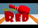 Learn Colors with Colors Bowling Game Kids City TV Green Yellow Red Blue  1080p HD