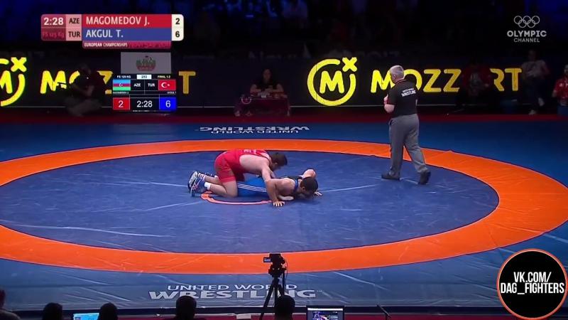Джамалудин Магомедов vs Таха Акгуль - Финал ЧЕ 2017