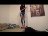 EVIKE face stomping PART 2 foot worship smelling fetish feet smother domination trample
